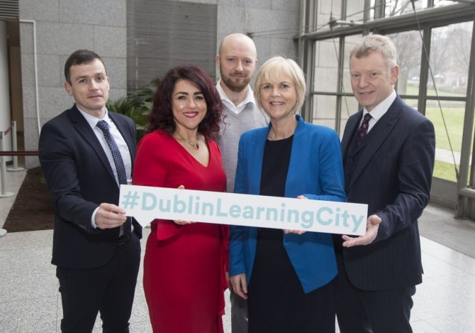 Denise McMorrow, Student Experience Manager, IADT, Paul Curran Dublin Learning City, Dr. Andrew Power, Registrar, IADT