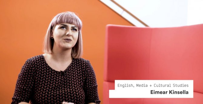 English, Media + Cultural Studies student Eimear Kinsella tells us about what she loves about IADT as well as all the fantastic career options that her course offers her.