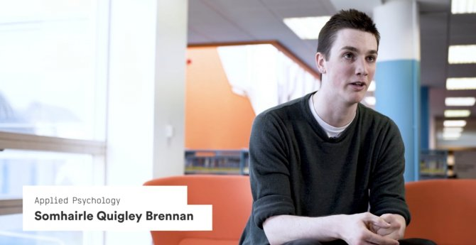Applied Psychology student Somhairle Quigley Brennan talks about how satisfying he finds studying at IADT.