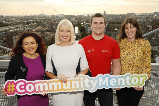 Denise McMorrow, Student Experience Manager IADT, Minister Mary Mitchell O'Connor, Reuben Noyes, Community Mentor from IADT, Sinead McEntee, Access Officer IADT