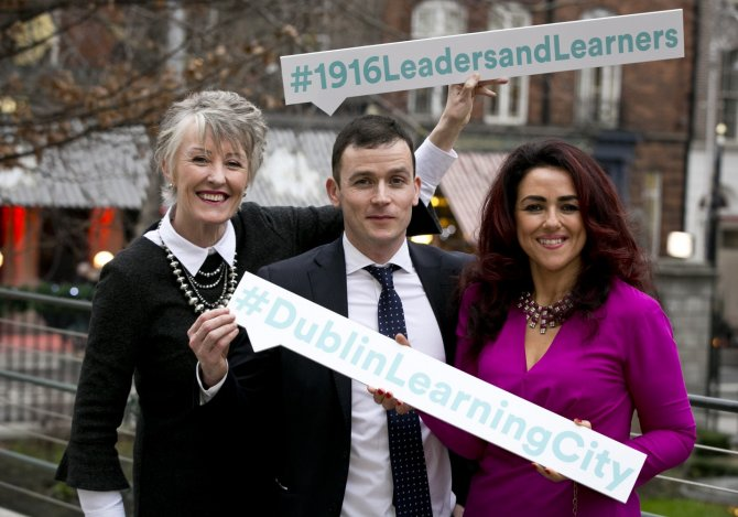 Dr. Anna Kelly, Chair at PATH Leinster Pillar 1 Consortium, Trevor Purtill, Research & Development Programme Manager (MIE) & Denise McMorrow, Student Experience Manager, IADT