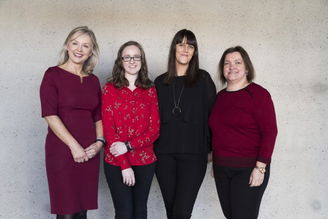 IADT Marketing team - Ruth Barry, Claire Roberts, Ruth Wilkinson and Elena Somoza