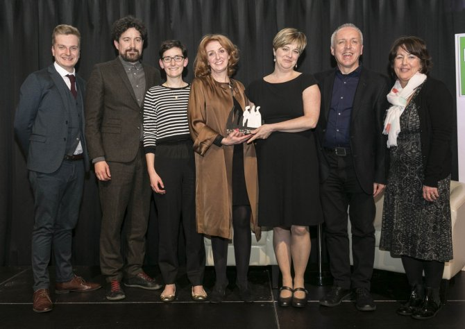 The IADT team receiving the prestigious Delta Award